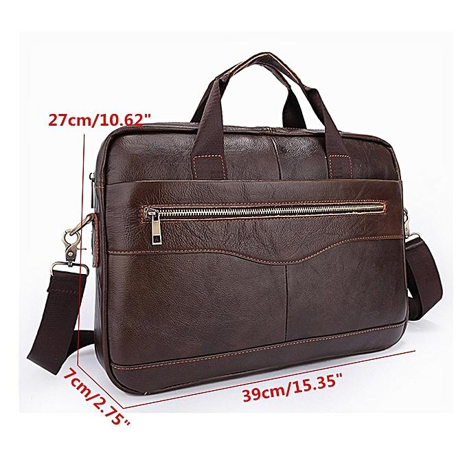 ... UK Men Business Genuine Leather Briefcase Handbag Laptop Shoulder  Messenger Bag Brown ... eb642bdef9083