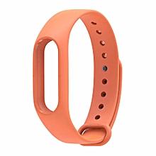 Replaceable Silicone Wrist Strap for Xiaomi Mi Band 2 - Orange