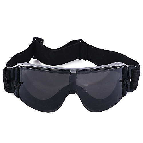 16ebb33cff Generic X800 Military Tactical Goggles Protective Glasses with Pouch for CS  Game Hunting Shooting - Black