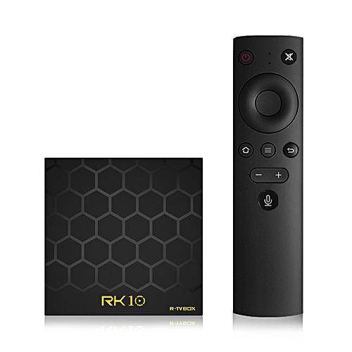 RK10 Android TV 7 1 Smart TV Box w/ 2 4G Vioce Remote Control RK3328 Quad  Core 64 Bit UHD 4K VP9 H 265 2GB / 16GB 2 4G WiFi LAN HD Media Player