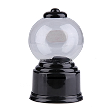 Mini Candy Machine Bubble Gumball Dispenser Coin Bank Kids Toy For Gumballs-Black