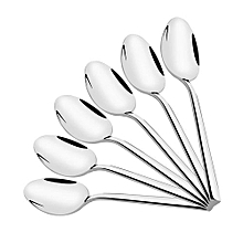 Table Spoons Stainless Steels 6 Pieces Sterling Quality - Silver