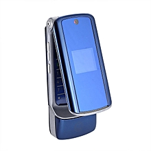 1.9 inch Unlocked K1   Flip Cell Phone Bluetooth Mobile-Blue