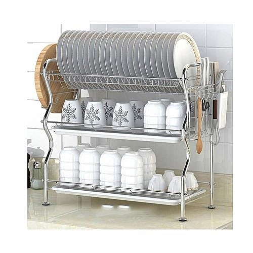 Dish Rack.3tier Stainless Steel Dish Drainer Drying Rack