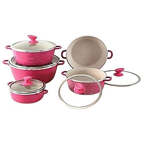 Shoppers Unique Granite Non Stick Cooking Pots 10 Pieces