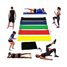 Resistance bands(5pieces+mesh carry bag).