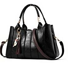 Classy, Elegant &Stylish  Leather Handbag-Black