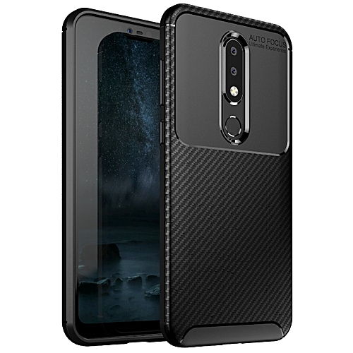 promo code d10ad 51040 Nokia 6.1 PLus/Nokia X6 Silicone Case TPU Carbon Fiber Pattern Phone Back  Cover - Black