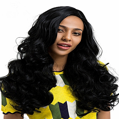 Generic Africanmall store 24-inch Women s New Fashion Black Long Curly Hair  Wig Charming -As shown   Best Price  47c7e1acb