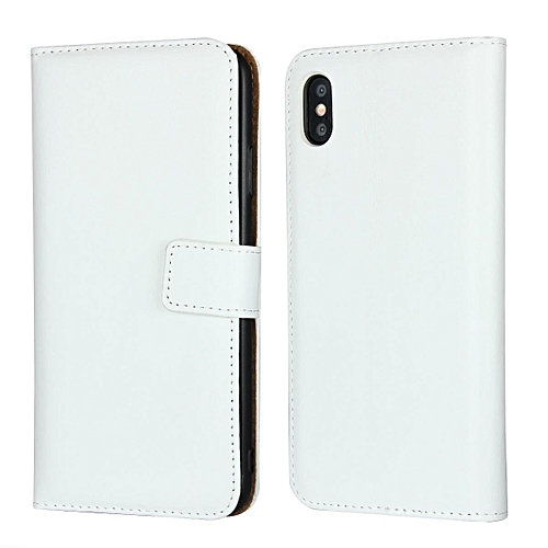 Real Leather Wallet Case Cover for Apple iPhone XS Max