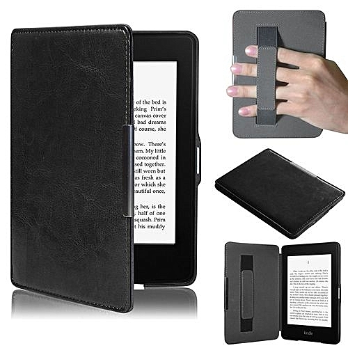 Ultra Slim Leather Smart Case Cover For Amazon Kindle Paperwhite 5 Black