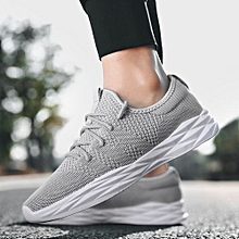 2018 Summer Fashion Mesh Breathable Men's Loafers Sneaker Running Casual Shoes-Grey