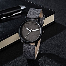 Fohting GAIETY New Men Women Fashion Leather Bracelet Quartz Cowboy Wrist Watch Jewelry -As Picture