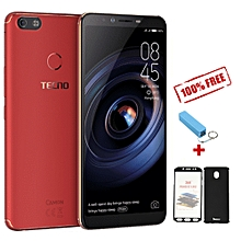 "Camon X Pro- 6.0"" - 64GB - 4GB RAM - 16MP Camera - 4G- (Dual SIM) -  Bordeaux Red + FREE 360° PROTECTIVE CASE + FREE POWER BANK"