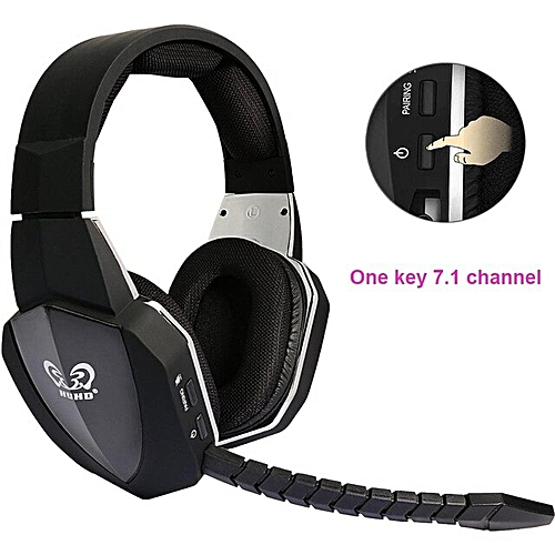 2019 New wireless headphone Optical Wireless Gaming Headset for XBox  360/one,PS4/3,PC,earphones,Upgraded 7 1 Surroun Sound(Black)