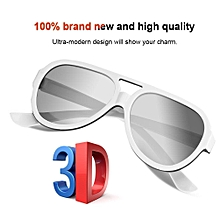 Cinema 3D Glasses 1Pcs Plastic Circular Polarized 3D Glasses For 3D Glasses Stereoscopic Movie Glasses