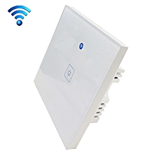 WS-UK-01 EWeLink APP & Touch Control 2A 1 Gang 1 Way Tempered Glass Panel Smart Wall Switch, AC 90V-250V, UK Plug