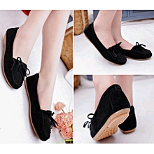 Western latest design women shoes bowkont flat casual comfortable  ladies fashion shoes