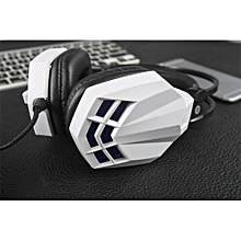 Olivaren Surround Stereo Gaming Headset Headband Headphone USB 3.5mm With Mic For PC WH -White