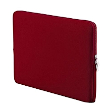 11 Inch Korean Style Portable Zipper Soft Sleeve Laptop Pouch Bag For Notebook Computer Case For MacBook Air Pro Retina- Wine Red