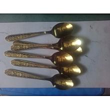 6 - Piece High Quality Gold Coated Teaspoon / Tea Spoon