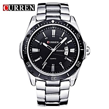 2016 CURREN Luxury Brand Full Steel Fashion Quartz Watch Business Men Date Display Watches Relogio Masculino Wristwatches 8110