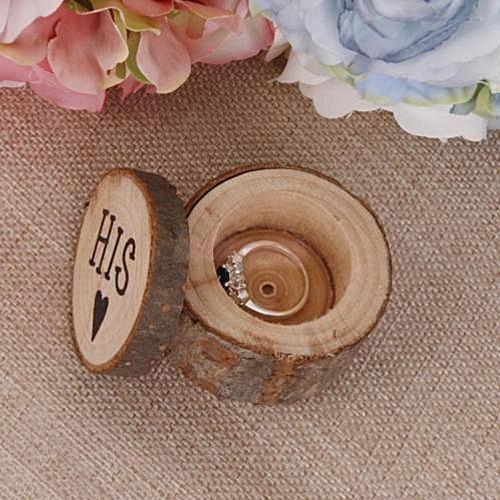 ea7a5b08c Generic 1Set Personalized Retro Ring Box Wedding Valentines Wooden Holder Jewelry  Box