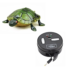 Infrared Electric RC Tortoise Simulation Remote Control Turtle Kid Toy-Yellow