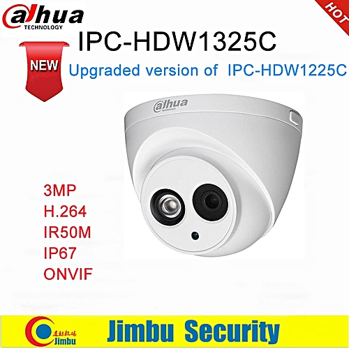 Dahua IP Camera 3MP IPC-HDW1325C H 264 IP67 CCTV Camera IR 50M Surveillance  Network Dome Camera ONVIF(3 6mm)
