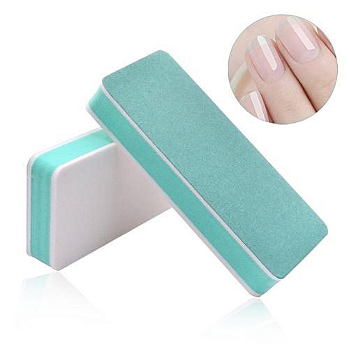 Professional 2 Faces Nail File Buffer Polishing Block Art Manicure Sponge Sanding Buffing Tools Style
