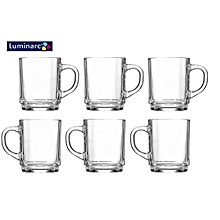 Coffee & Tea Nordic Clear Glass Mug; Set of 6.