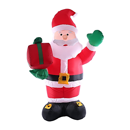 2 4m 95in Tall Inflatable Christmas Santa Claus X Mas Outdoor Decorations Ornaments Ac100 240v