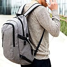 Anti-Theft Backpack External USB Port Charger Sport School Outdoor Travel Bag