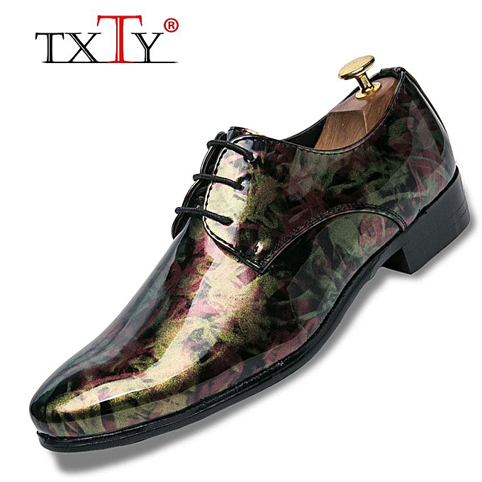 12724fb13fe6df Men Formal Shoes Pointed Toe Business Wedding Patent Leather Oxford Shoes  For Men Dress Shoes