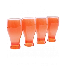 Acrylic Jug & 4 Glasses - Orange