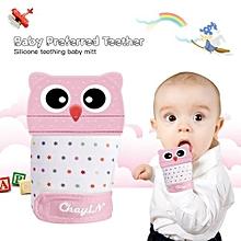 1 Pcs SiliconeBaby Teething MittensforReliving Pain BPA Free Baby Teething Gloves Teething Toys Pink