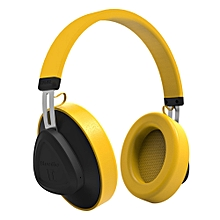 Wireless Bluetooth Headset Stereo Headphone - Yellow