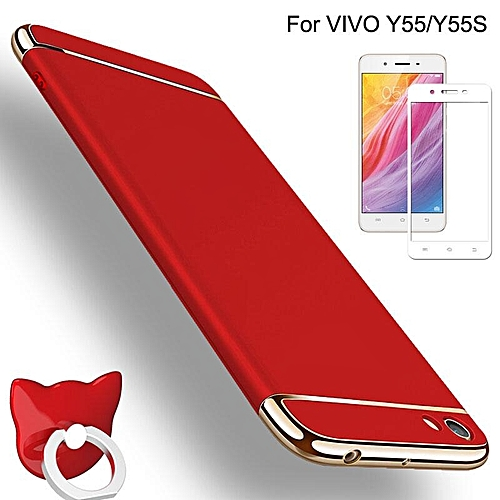 For VIVO Y55S/Y55 Luxury Slim 3in1 Shockproof Hard Case Cover With Full Coverage Anti