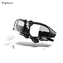 Bluetooth Headset, BTglasses Headphone Bluetooth Sunglasses Bluetooth Handsfree Wireless Headset Portable Wireless Earphone For Phone Glasses Hifi(Black)