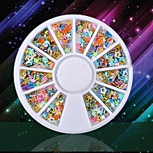 bluerdream-20G/Box 3D Decal Stickers Nail Art Tip DIY Decoration Stamping Manicure-Multicolor