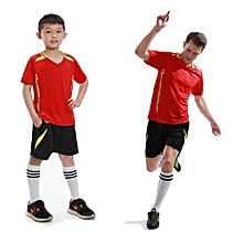 1 Set 2018 Newest Children Boy And Men's Football Team Training Soccer Jersey Set-Red
