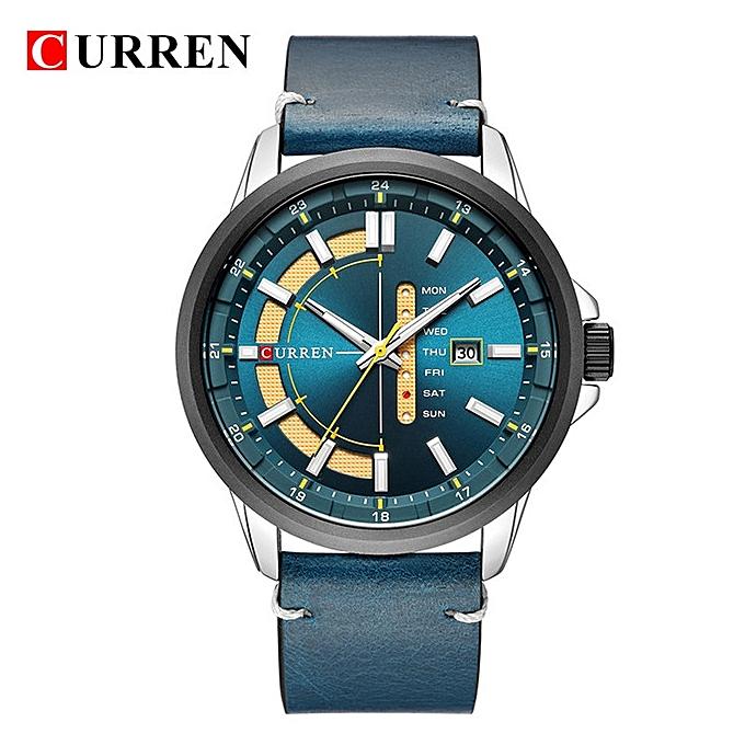 6b480d597c6 2018 Curren 8307 Men Top Brand Luxury Famous Male Clock Quartz Watch Golden  Wristwatch Quartz-