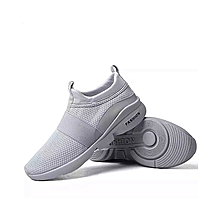 Breathable Running Shoes Sneakers Men and Women Breathable Casual Athletic Trainers - 46