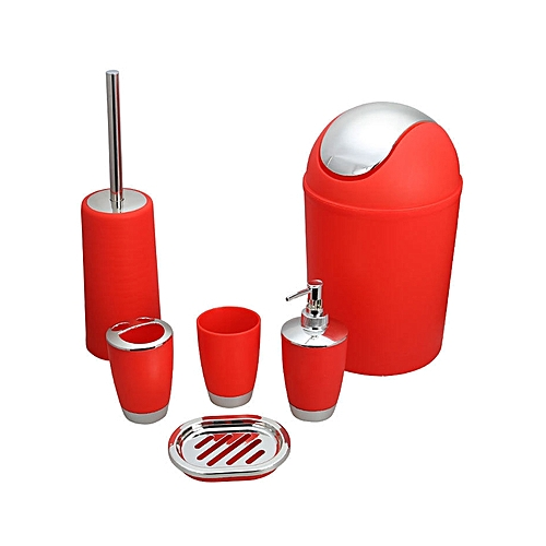 00f023cbfb2 Generic 6PCS Bathroom Accessory Set - Red   Best Price   Jumia Kenya