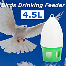 4.5L Water Dove Drink Dispenser Pigeon Birds Canary Drinker Feeder 34.5x18cm
