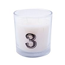 """Number """"3"""" Alphabet Scented candle - White"""