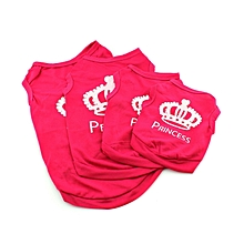 Dog Cat Pet Vest Puppy Print T-Shirt Outfit Apparel Vest-Rose Red