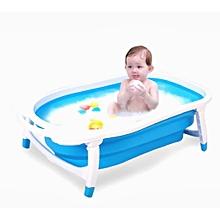 Newborn-to-Toddler Portable Folding Bath Tub - Blue