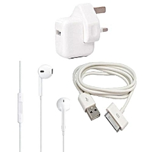 Iphone/Ipad Charger For iPad 2/3/4 Plus Earphone with mic