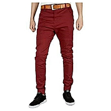 Khaki Trouser - Maroon